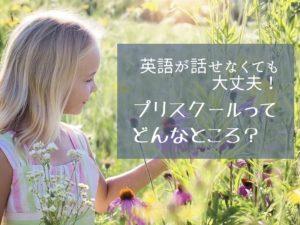 花を摘んで微笑む少女の写真