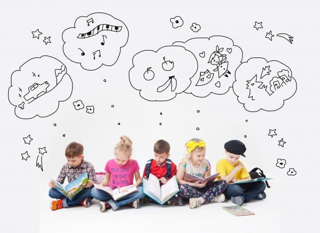 読書を楽しむ子供たち