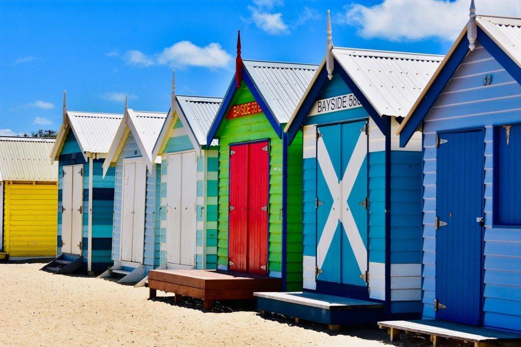 メルボルンのブライトンビーチの写真