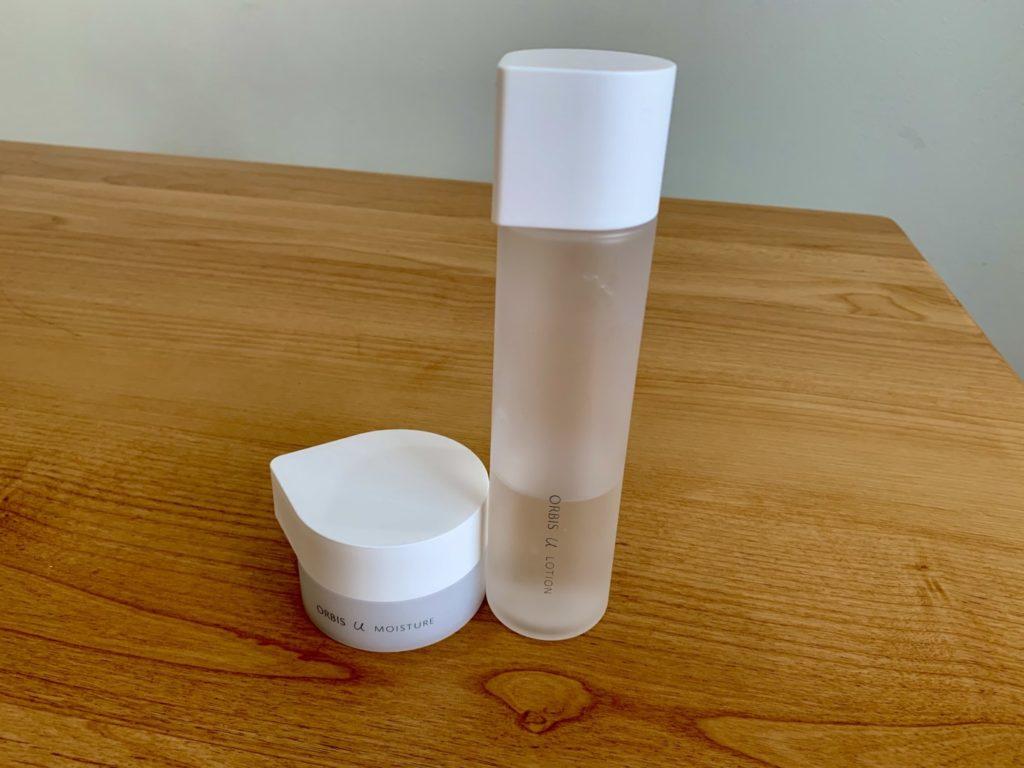 オルビスユーの使いかけの保湿液と化粧水の写真